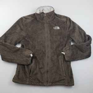 The north faces womens solid brown osito zip up sm
